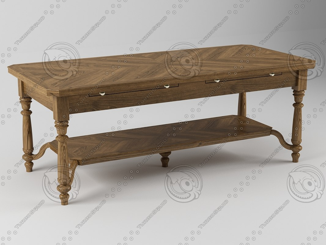 3d 3ds table coffee wood