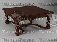 3d table coffee wood