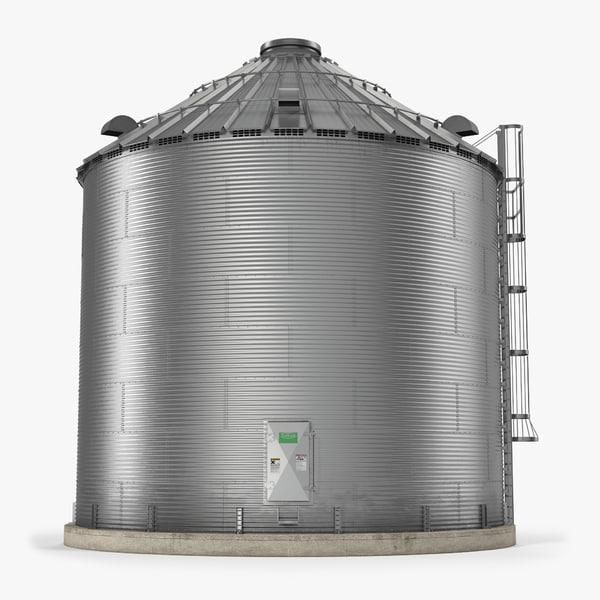 3d model grain bin