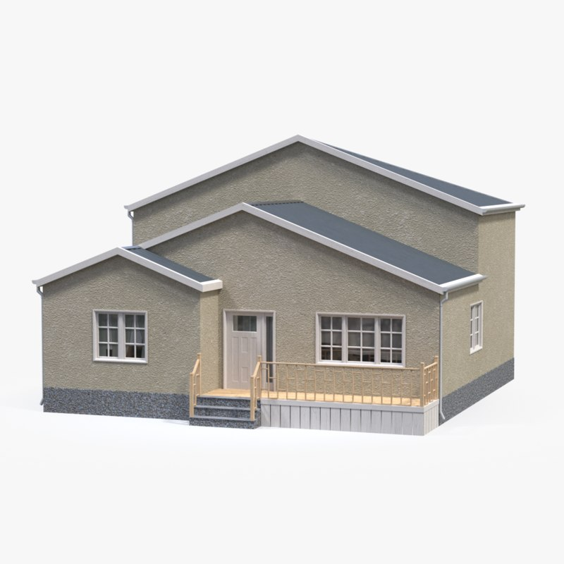 3d house residential model