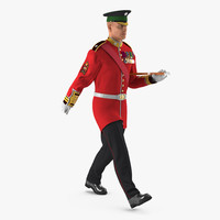3d model irish guard sergeant rigged
