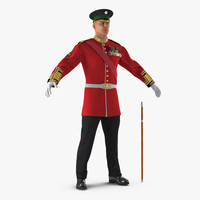 3d model irish guard sergeant