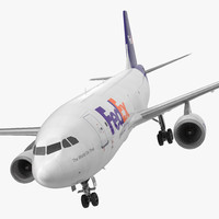 airbus cargo aircraft fedex 3d model