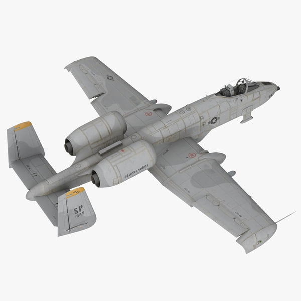 attack aircraft a-10 thunderbolt 3d model