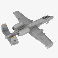 Attack Aircraft A-10 Thunderbolt II Rigged