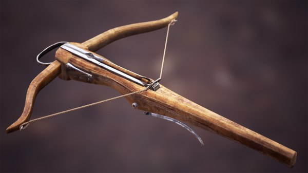 3d model light crossbow animations