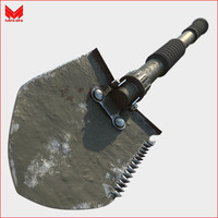military shovel 3d obj