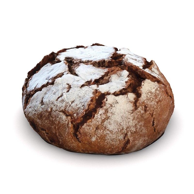 3d scan loaf bread model