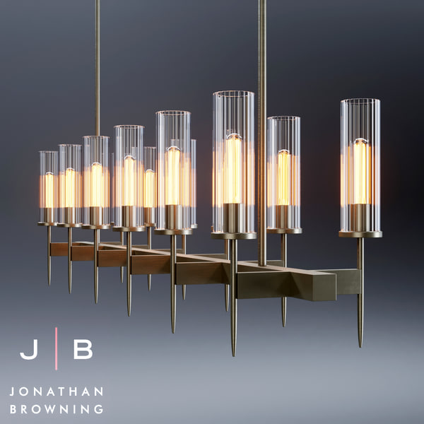 johnatan browning alouette chandelier 3d max