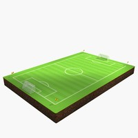 soccer field 3d model