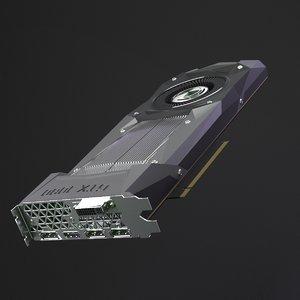 3d model nvidia gtx 1080