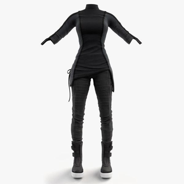 3d model women clothing