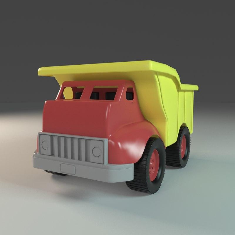 toy truck 3d model