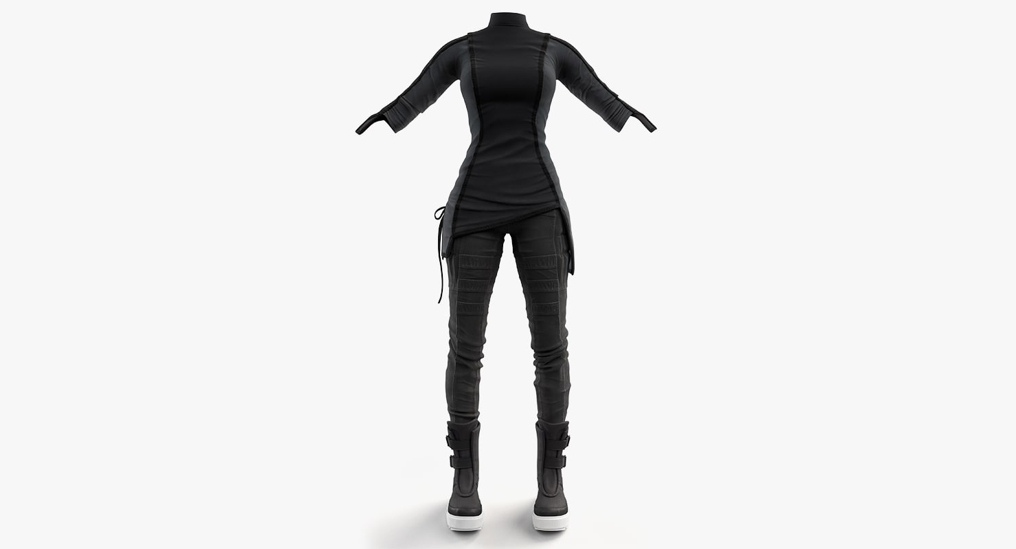 3d model women clothing