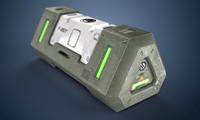 3d sci-fi crate
