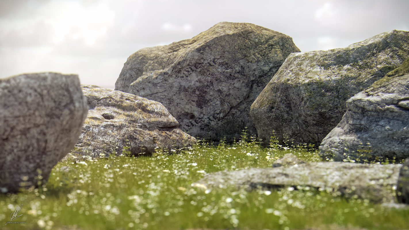 photorealistic rocks max
