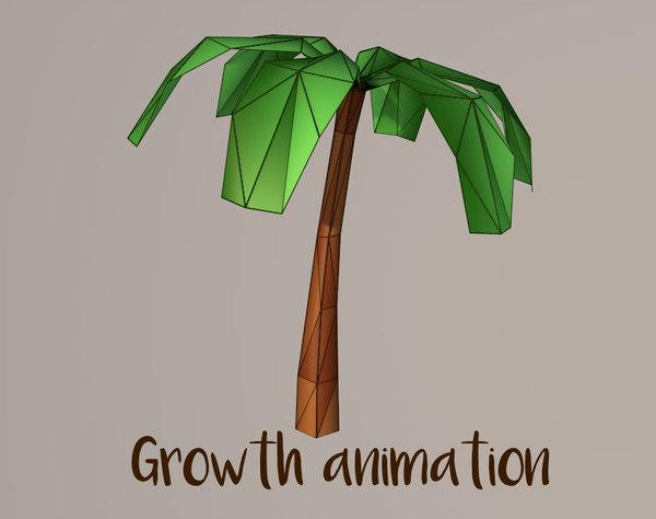 3d model of palm tree