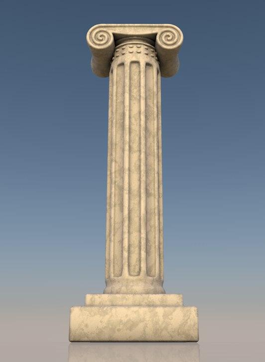 greek column 3d 3ds