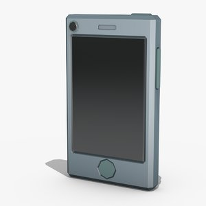 stylized mobile phone 3d model
