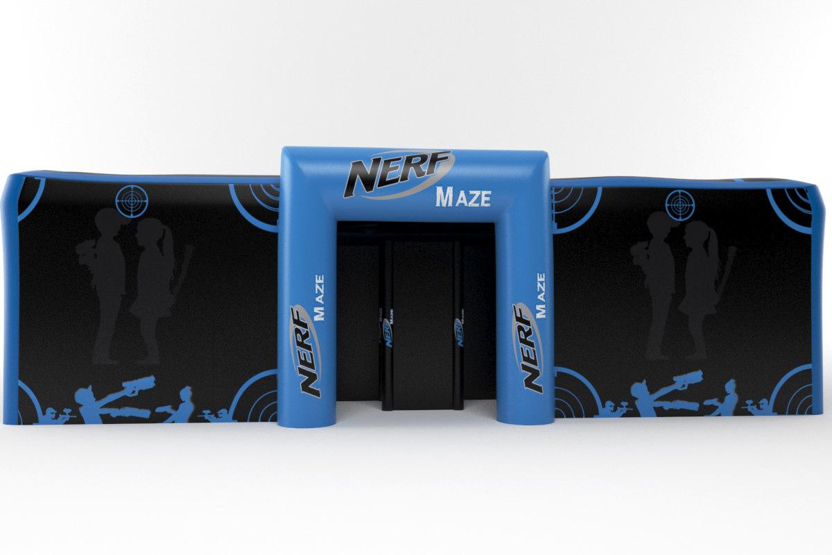 3d model nerf maze