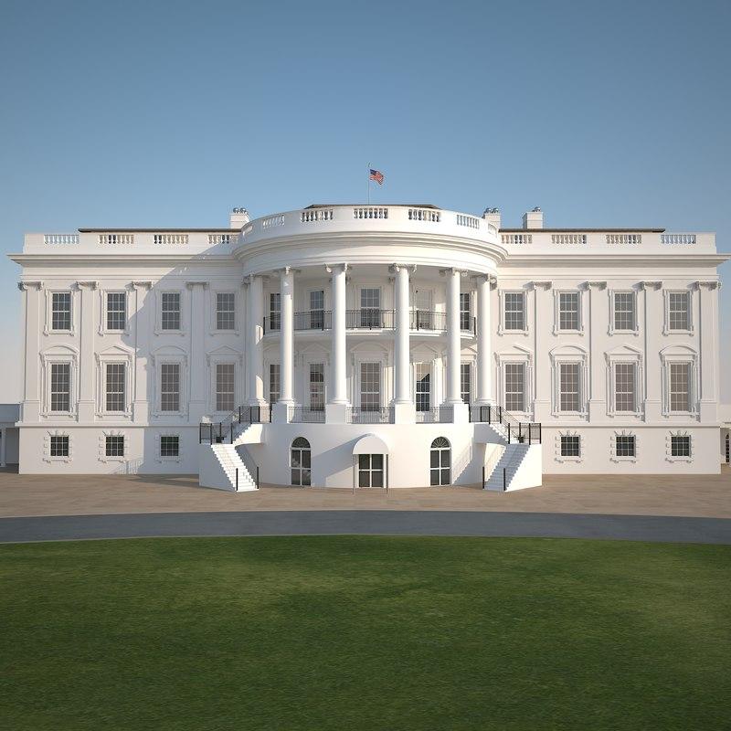 3d model white house u