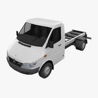 3d model mercedes sprinter truck chassis