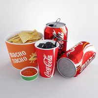nachos cola 3d model