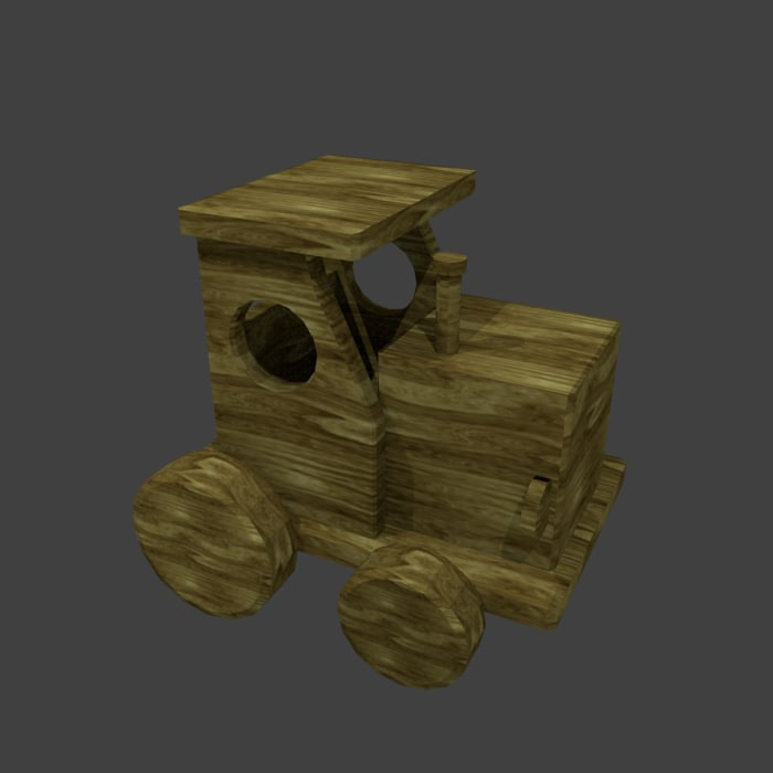 wood train toy 3ds
