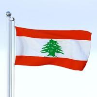 Animated Lebanon Flag