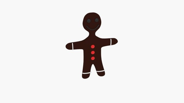 free 3ds mode simple gingerbread character