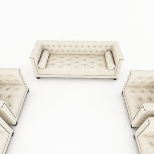 3d chesterfield sofa model