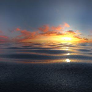 3d beautiful sea calm model