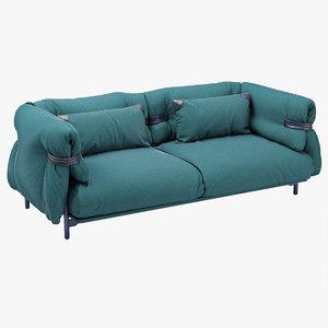 3d model belt sofa