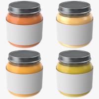 3d baby food jar