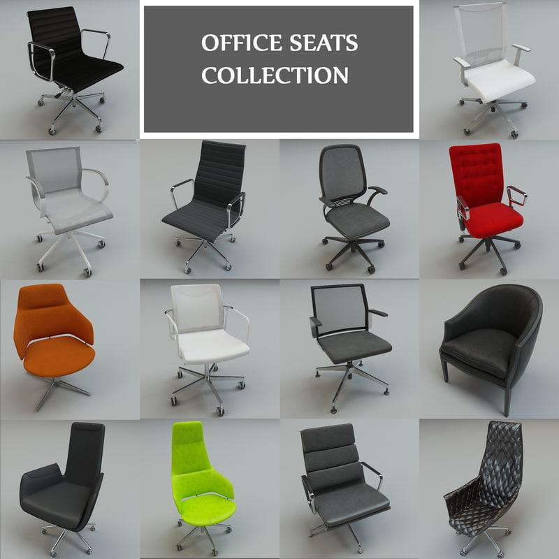 office seats 14 3d model
