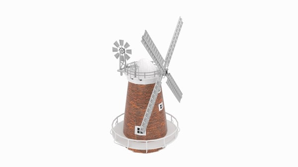 thaxted windmill 3d model