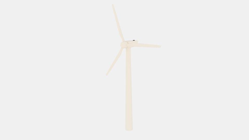3d model of wind 450kw turbine