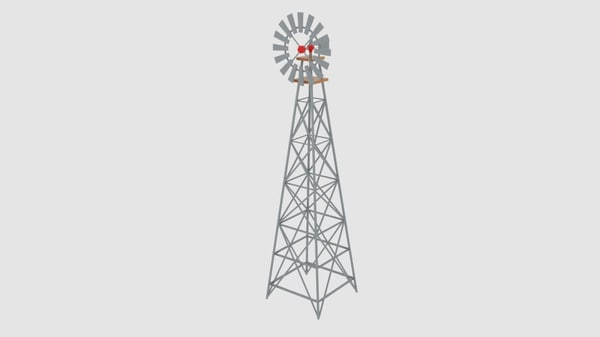 3d wind pump nevadan dessert
