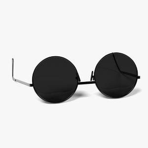3d glasses sunglasses sun model