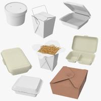 3d model takeout boxes