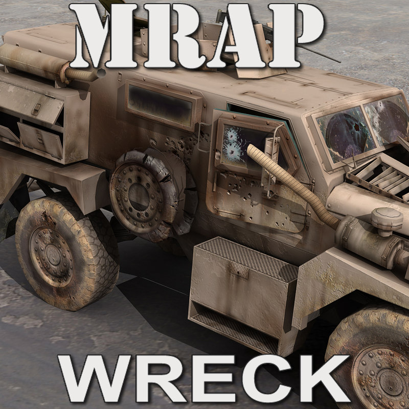 mrap damaged 3d model