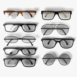3d model glasses set
