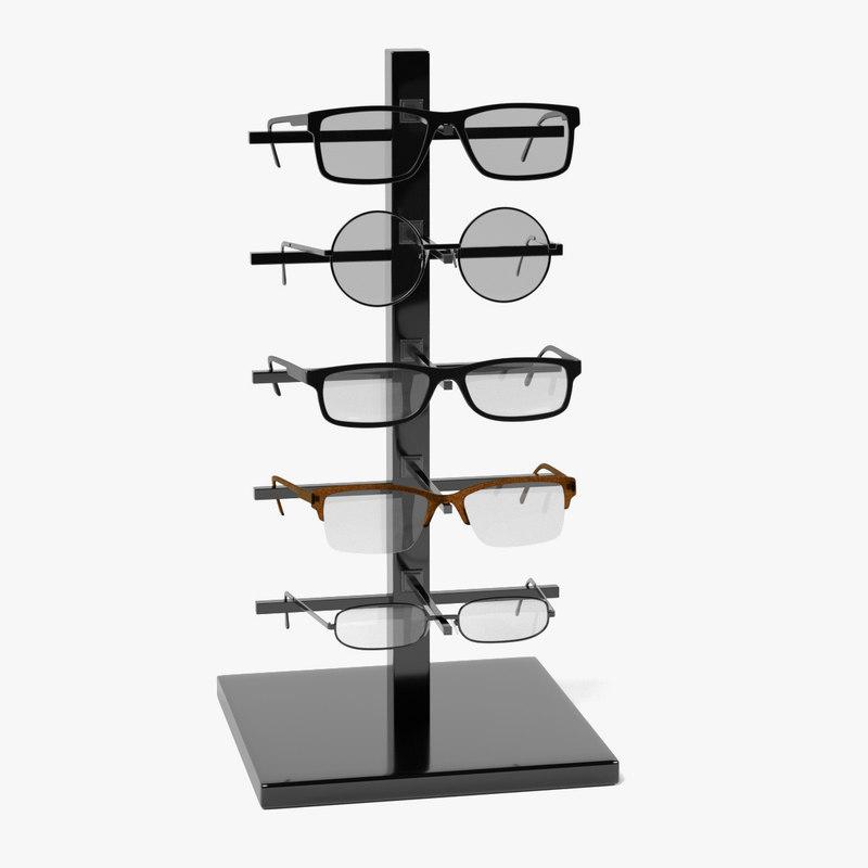 glasses rack 3d model