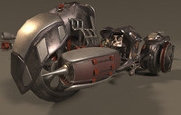 3d ready vehicle futuristic motorcycle model