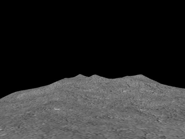 free rocky terrain 3d model