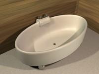 modern bathtub 3d obj
