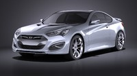 3d model hyundai genesis coupe