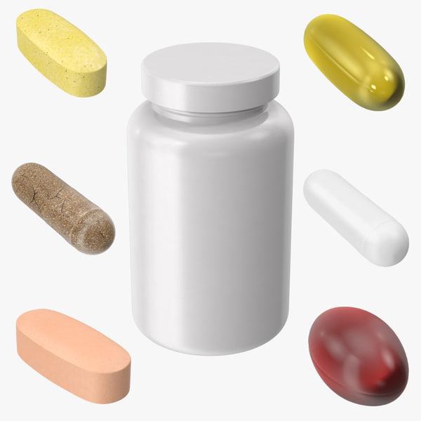 vitamin bottle 3d model