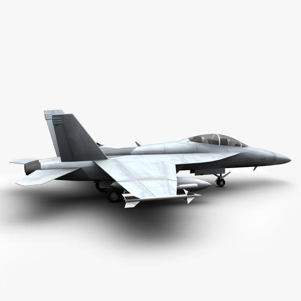 f super hornet fighter jet 3d model