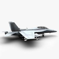 f super hornet fighter jet 3d model